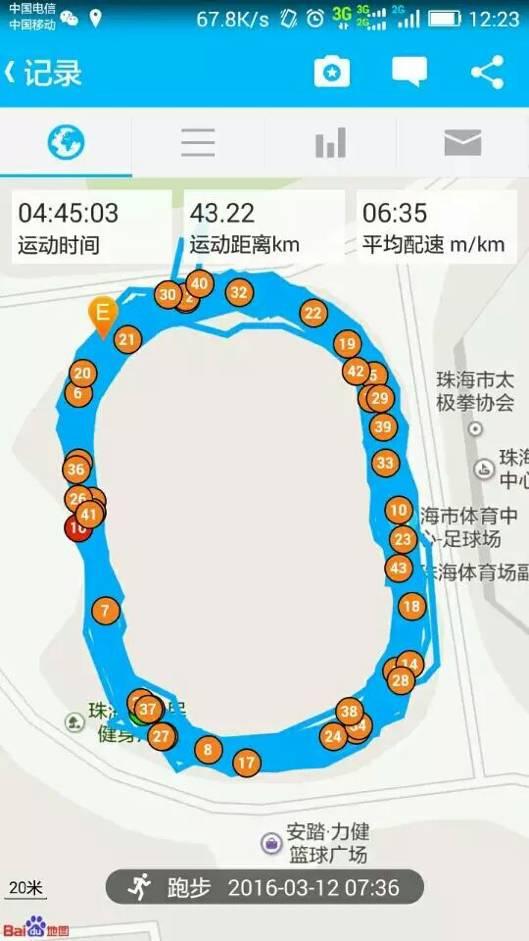 跑友分享|人生首个田径场圈圈全马+