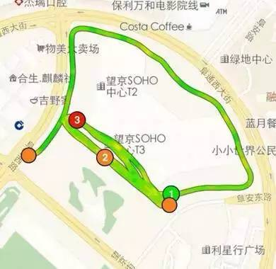 北京夜跑路线推荐,快约起来~