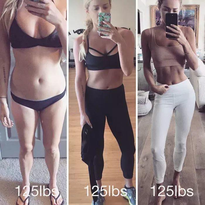 一组姑娘健身前后对比照告诉你,体重算个屁啊!